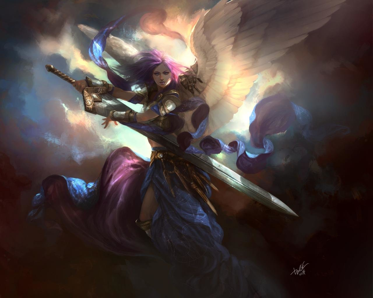 Free Download Angel Warrior Wallpaper ID352385 Hd 1280x1024 For Computer