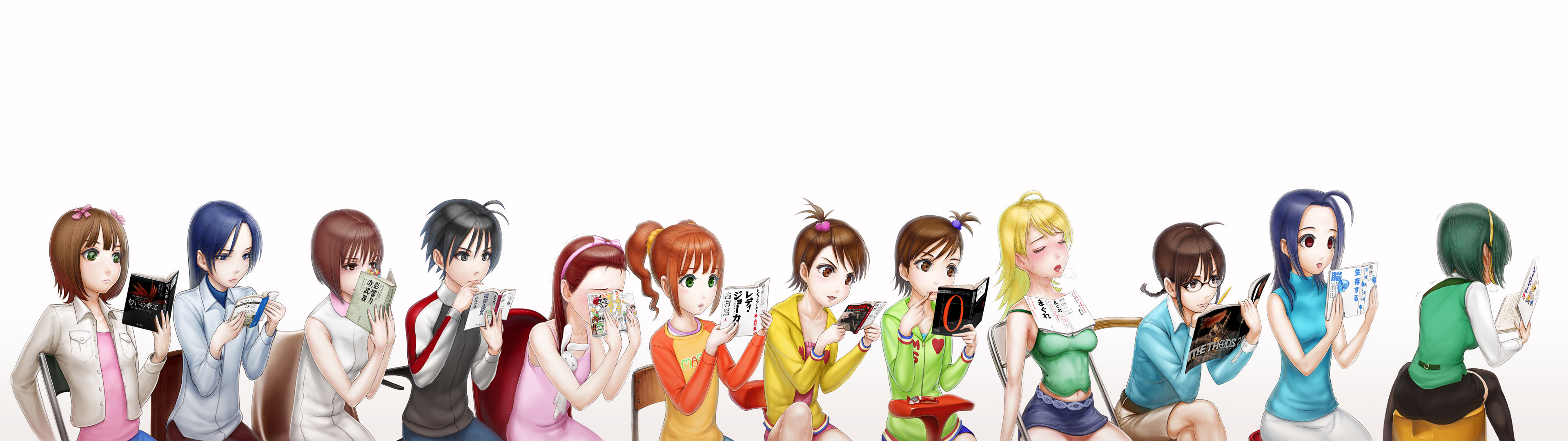 Download dual monitor 3840x1080 IDOLM@STER PC background ID:82712 for free
