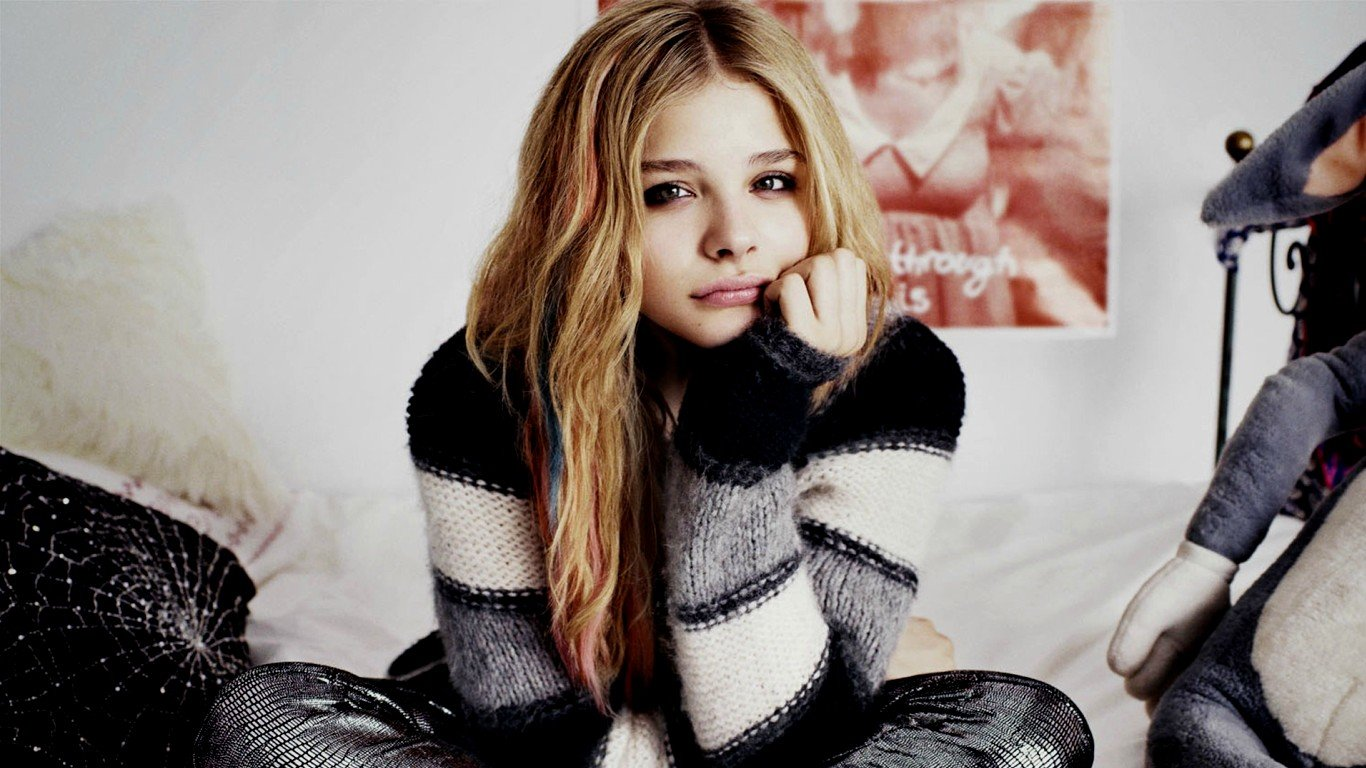 Free Chloe Grace Moretz high quality background ID:213651 for 1366x768 laptop desktop