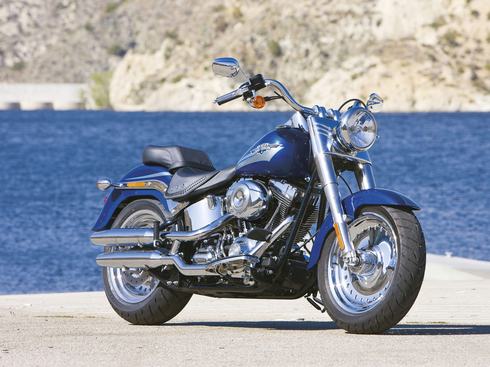 Free Download Harley Davidson Fat Boy Background ID:488538 Hd 1600x1200 For  Computer