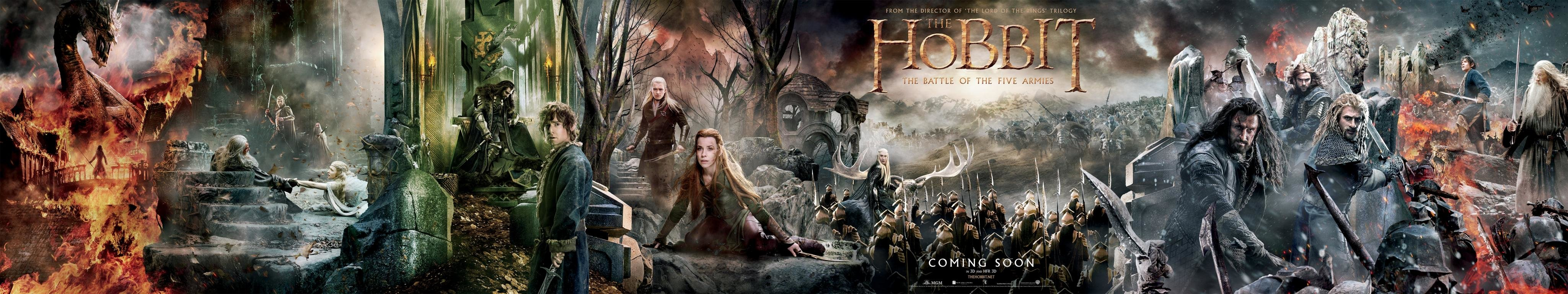 Download triple monitor 4098x768 The Hobbit: The Battle Of The Five Armies desktop background ID:100627 for free