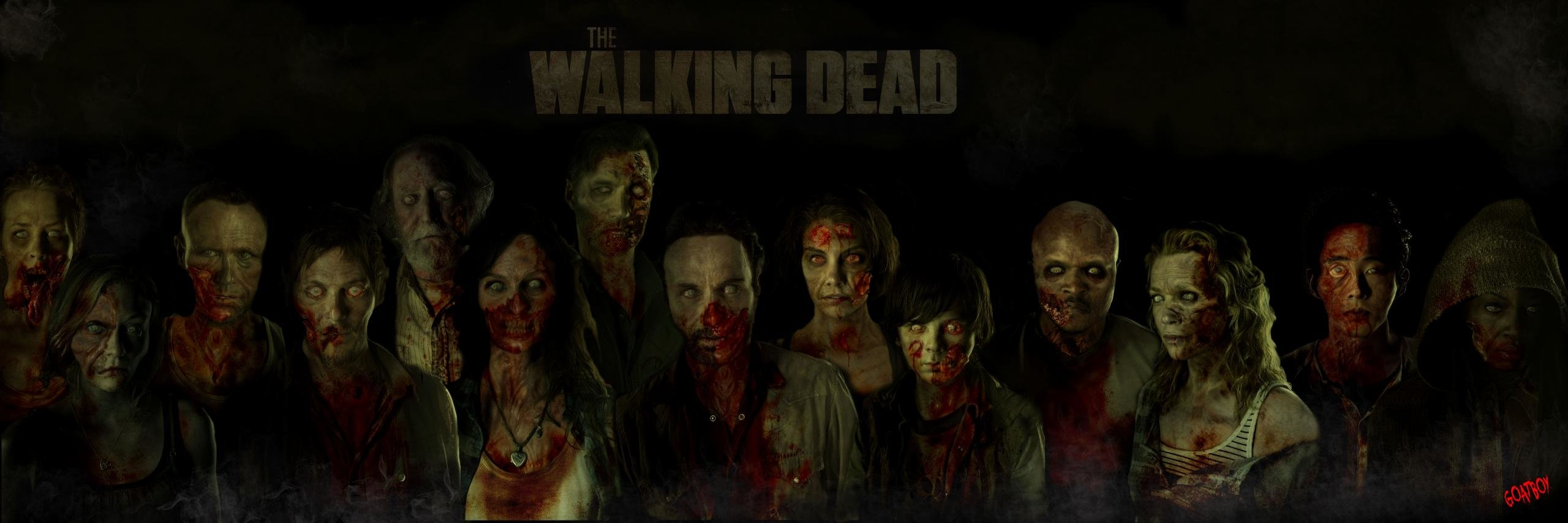 Awesome The Walking Dead free wallpaper ID:190232 for dual monitor 2560x854 PC