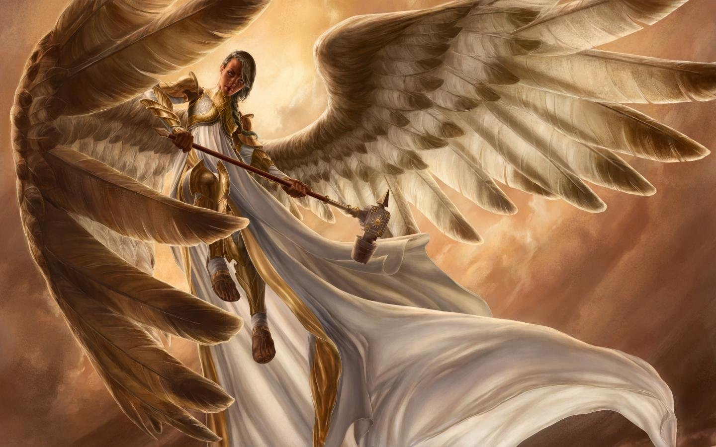 Free Angel Warrior high quality background ID:352381 for hd 1440x900 computer