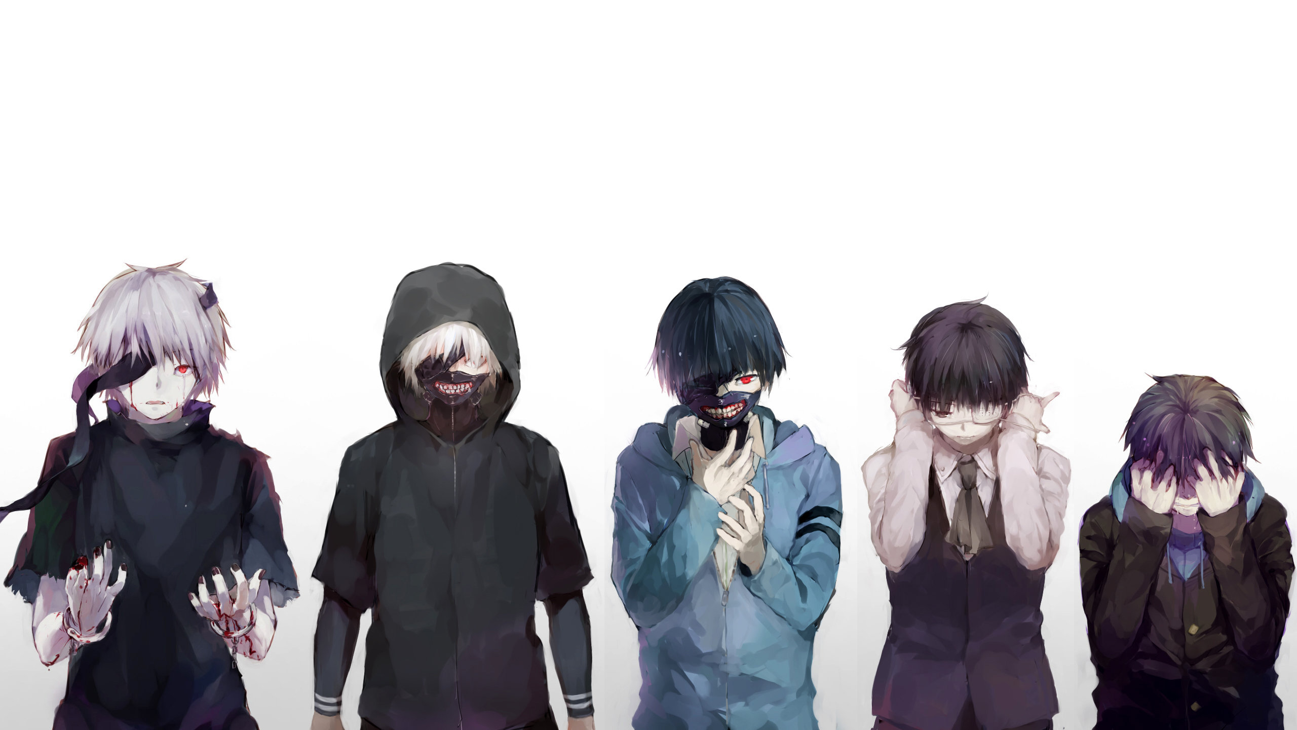 Download hd 2560x1440 Ken Kaneki PC background ID:150012 for free