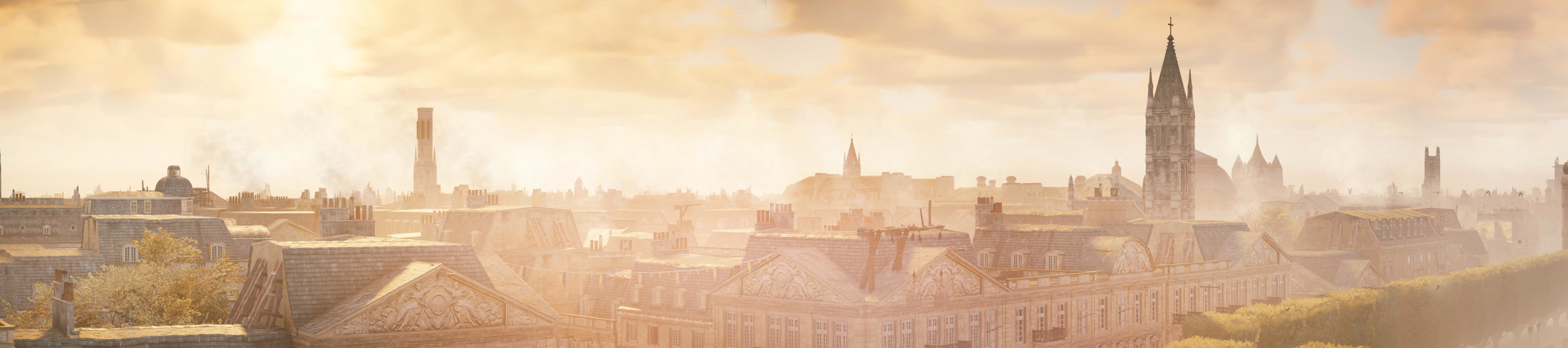 Awesome Assassin's Creed: Unity free wallpaper ID:229454 for triple screen 5760x1280 computer