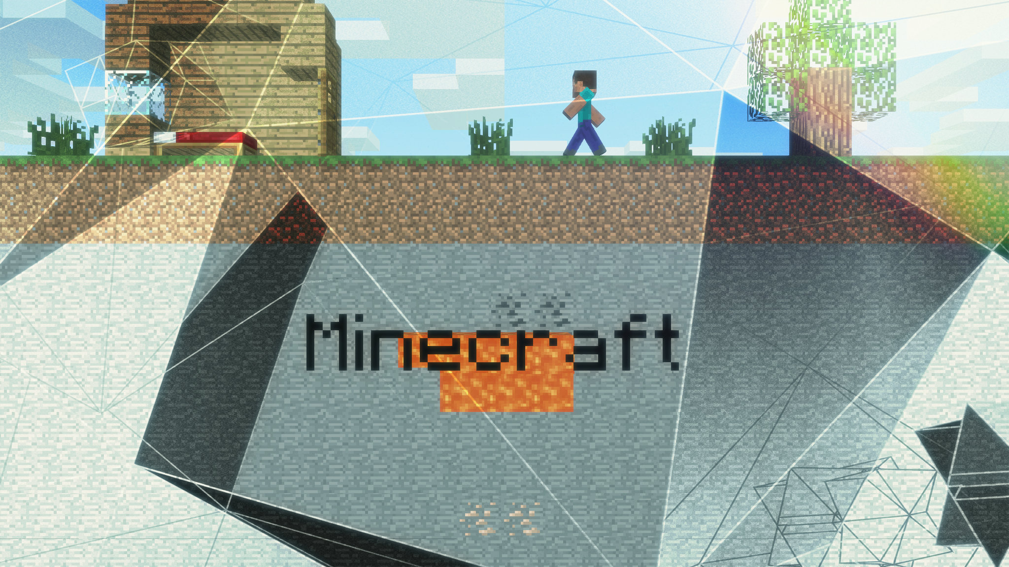 High Resolution Minecraft Hd 2048x1152 Wallpaper Id385646