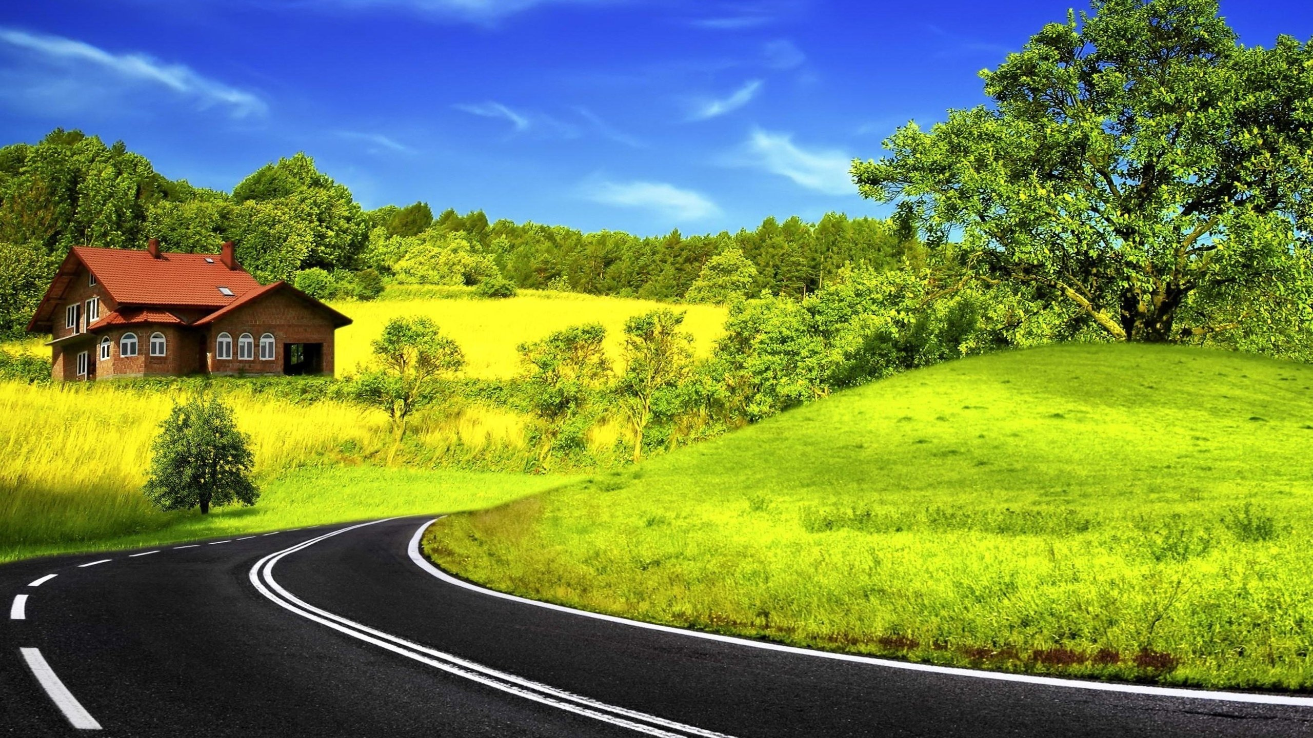 high resolution road hd 2560x1440 wallpaper id:491098 for desktop