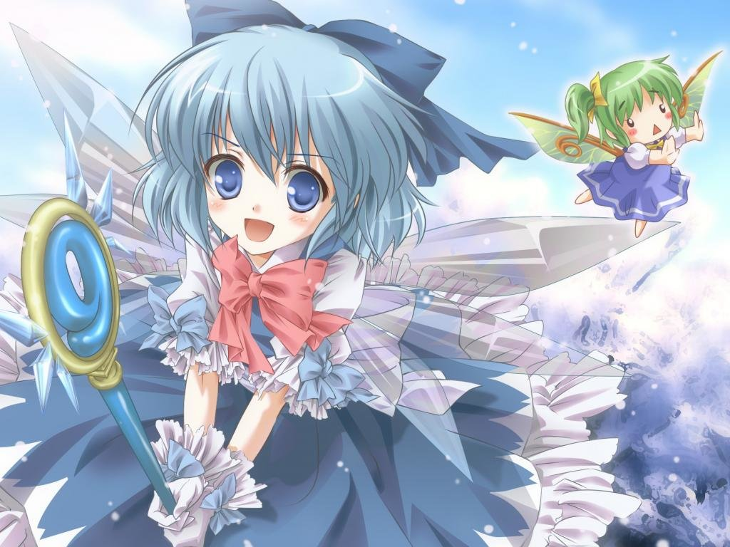 Free Cirno (Touhou) high quality background ID:225314 for hd 1024x768 PC