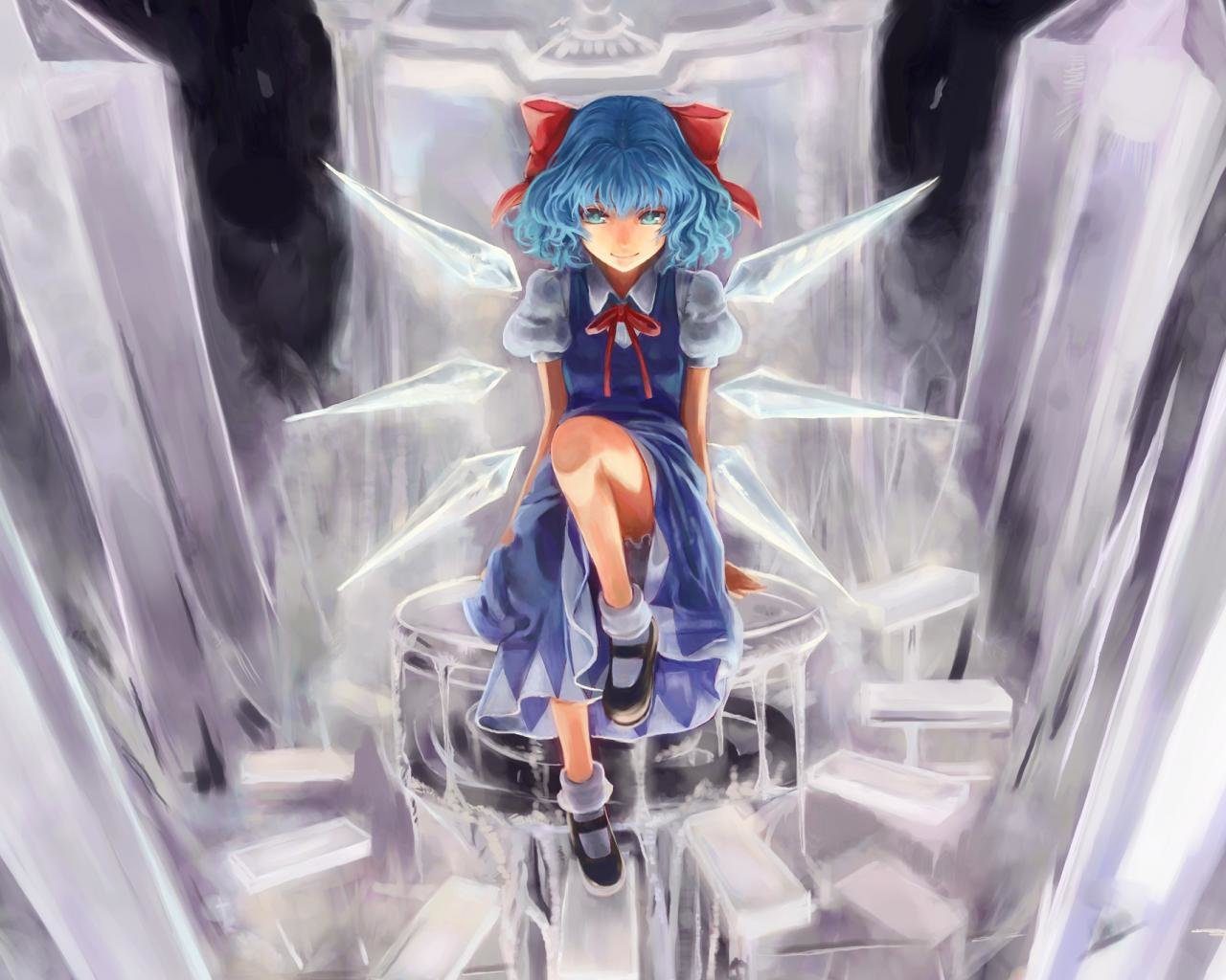 Awesome Cirno (Touhou) free wallpaper ID:225307 for hd 1280x1024 PC