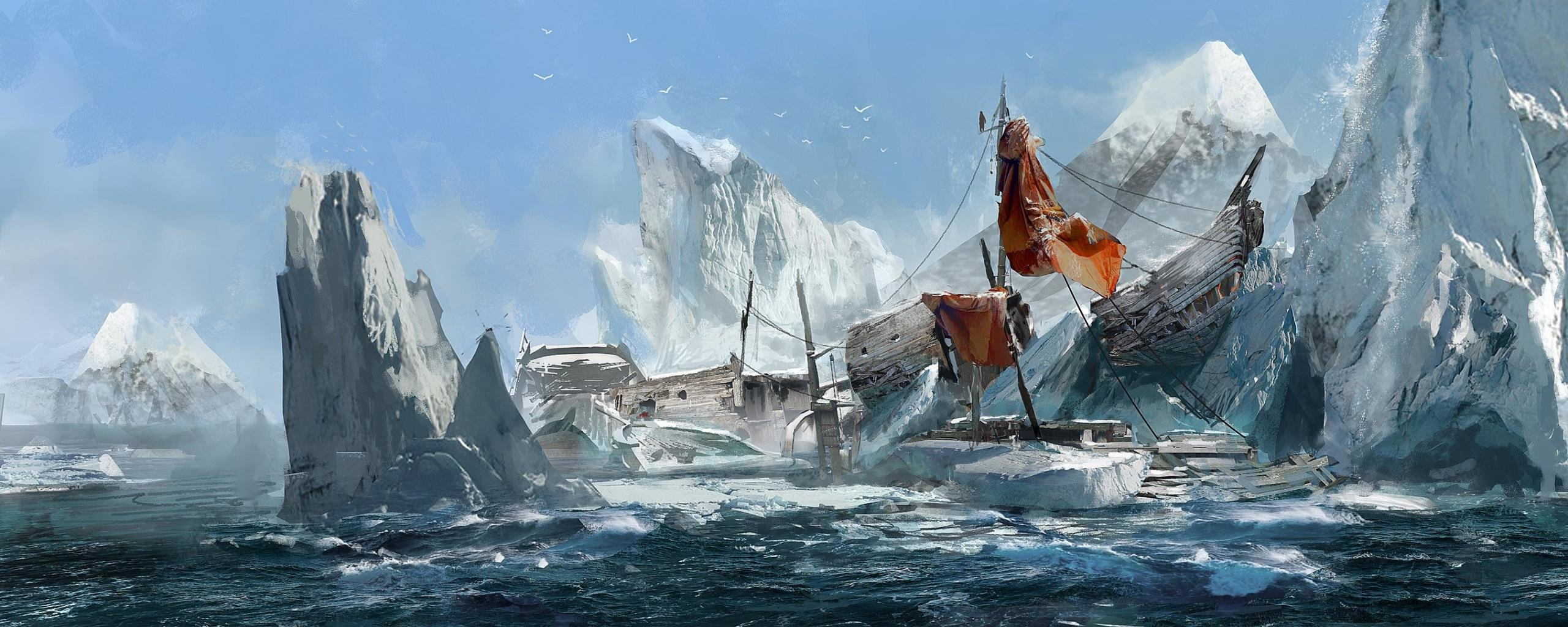 Dual Monitor Assassin S Creed Rogue Wallpapers Hd Backgrounds