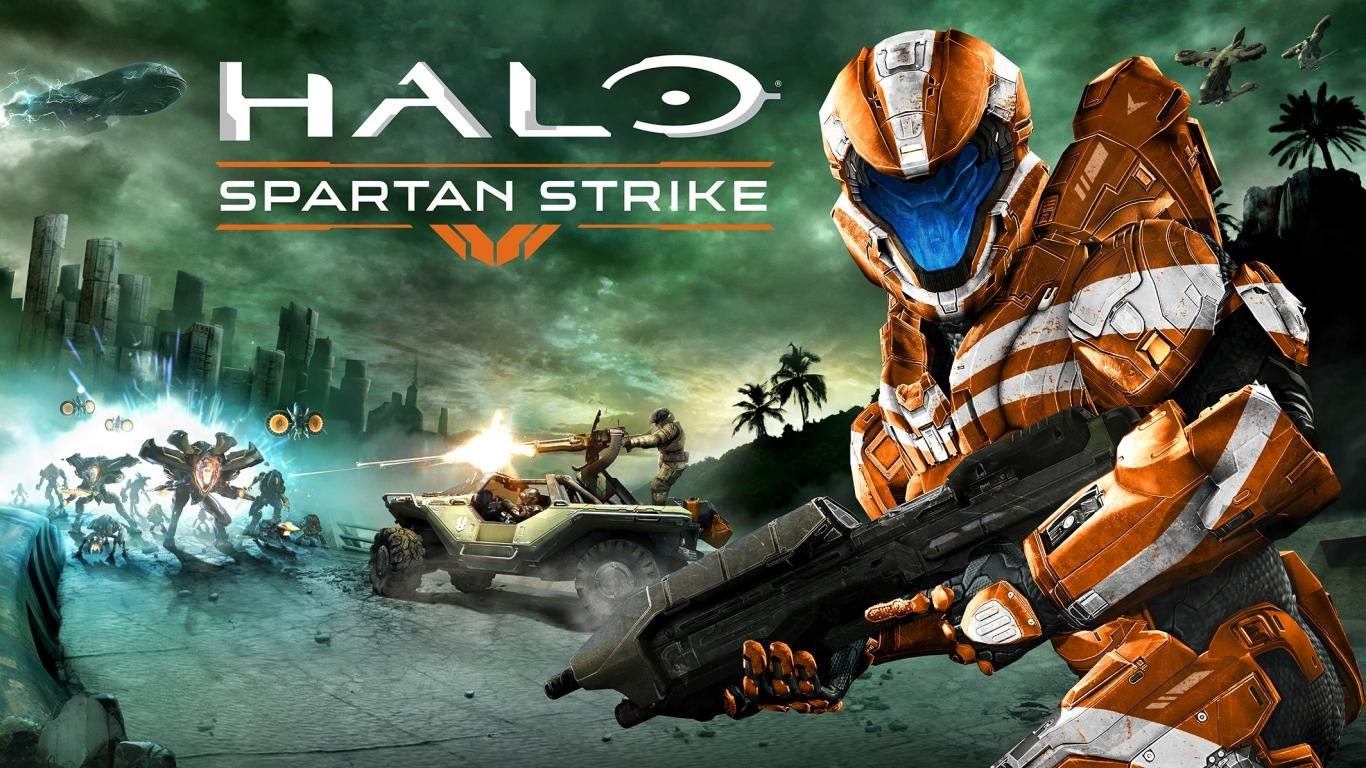 Halo Spartan Strike HD Backgrounds For 1366x768 Laptop Desktop