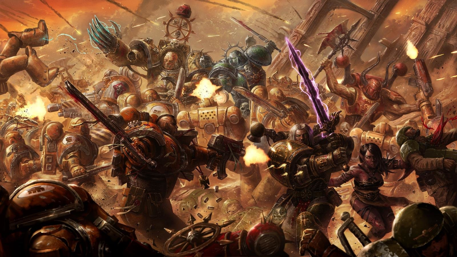 Download hd 1600x900 Warhammer 40k computer wallpaper ID:272267 for free