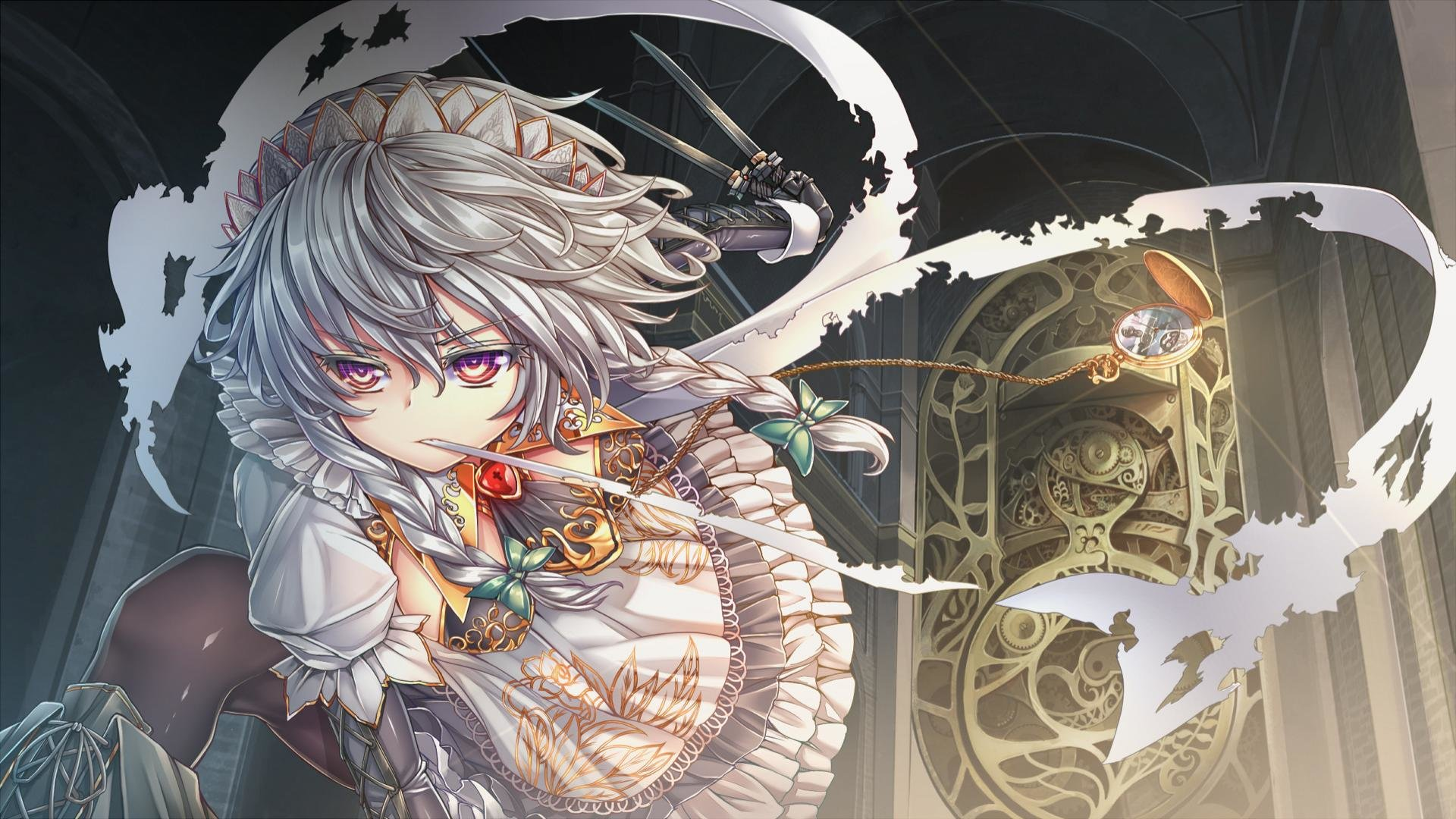 Awesome Sakuya Izayoi free background ID:220808 for hd 1080p desktop