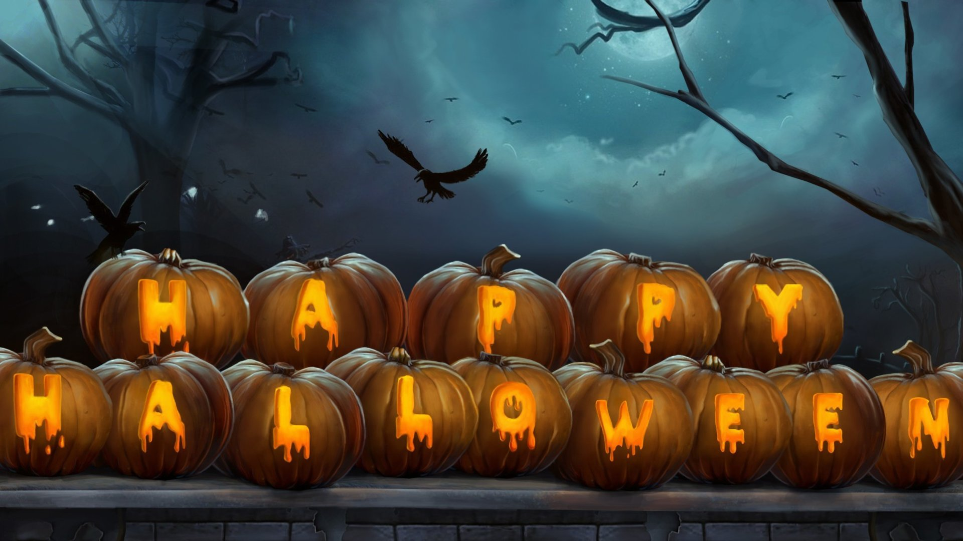 Best Happy Halloween background ID:402340 for High Resolution hd 1920x1080 desktop