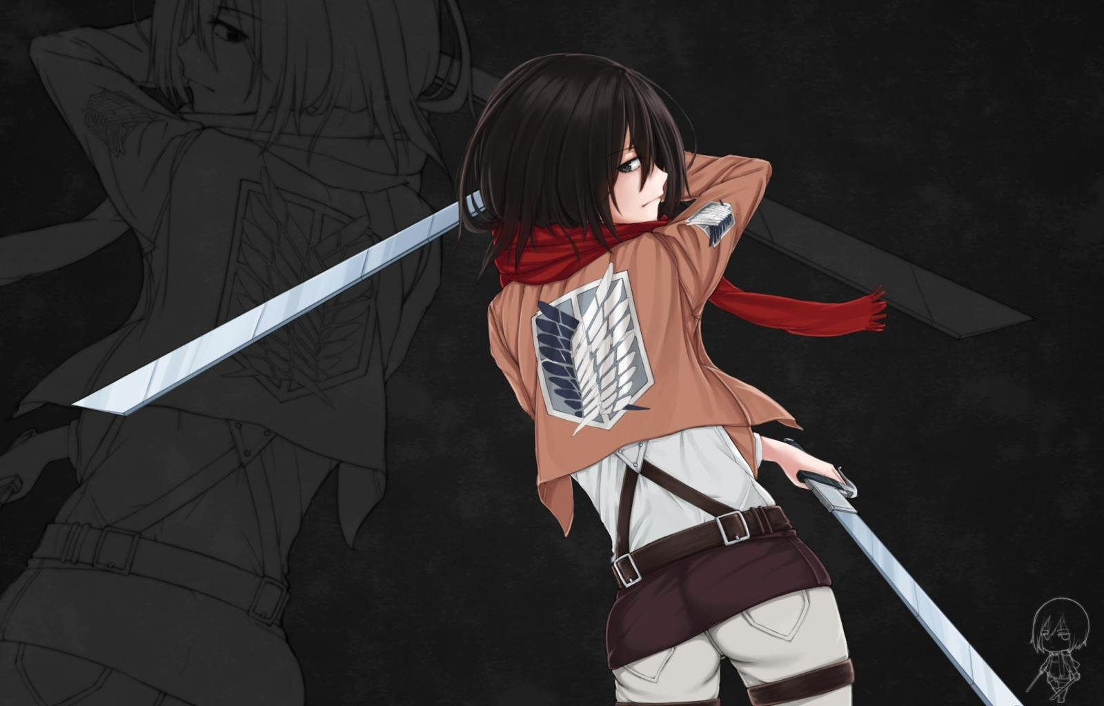 Awesome Mikasa Ackerman free wallpaper ID:206314 for hd 1600x1024 computer