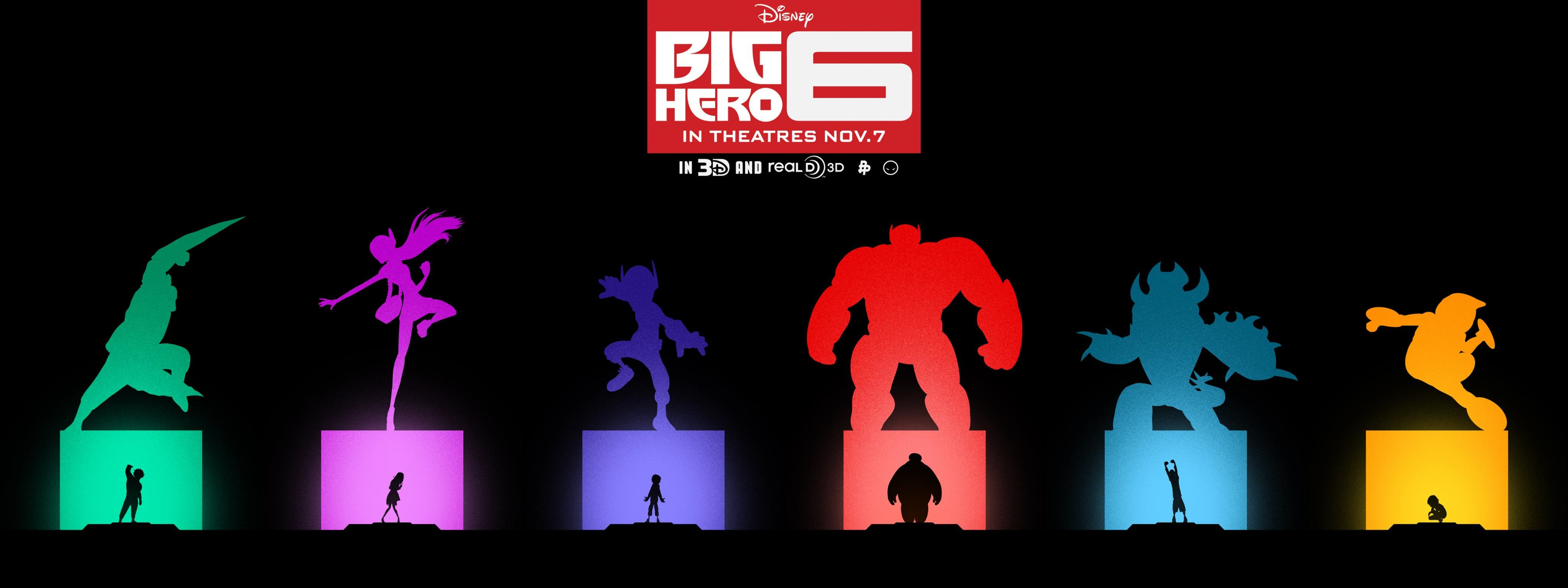 Awesome Big Hero 6 free wallpaper ID:298211 for dual screen 4096x1536 PC