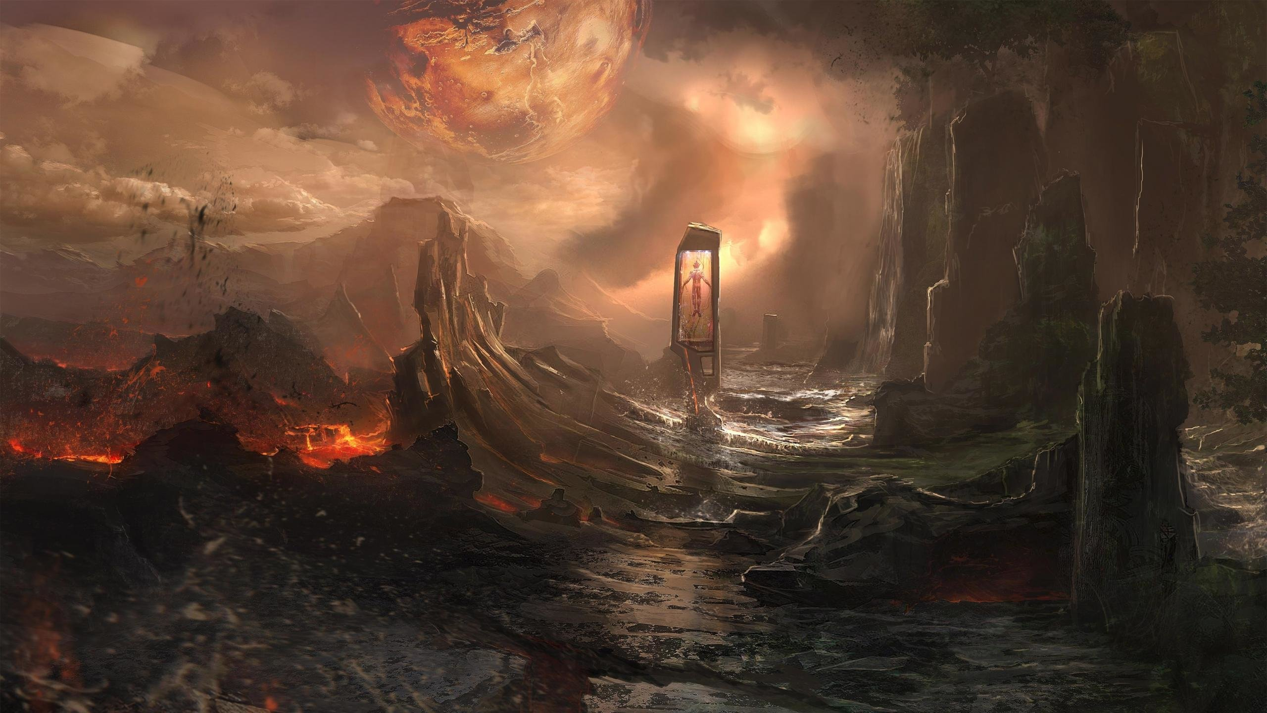 Fantasy Landscape Wallpapers 2560x1440 Desktop Backgrounds