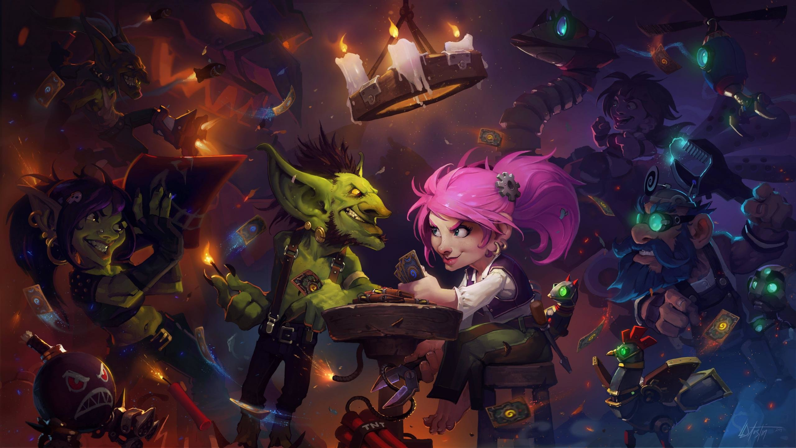 Download hd 2560x1440 Hearthstone computer wallpaper ID:84020 for free
