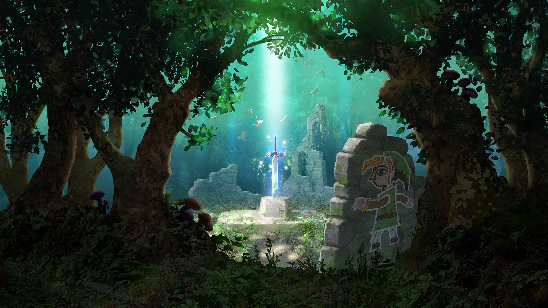 The Legend Of Zelda A Link Between Worlds Wallpapers 1920x1080