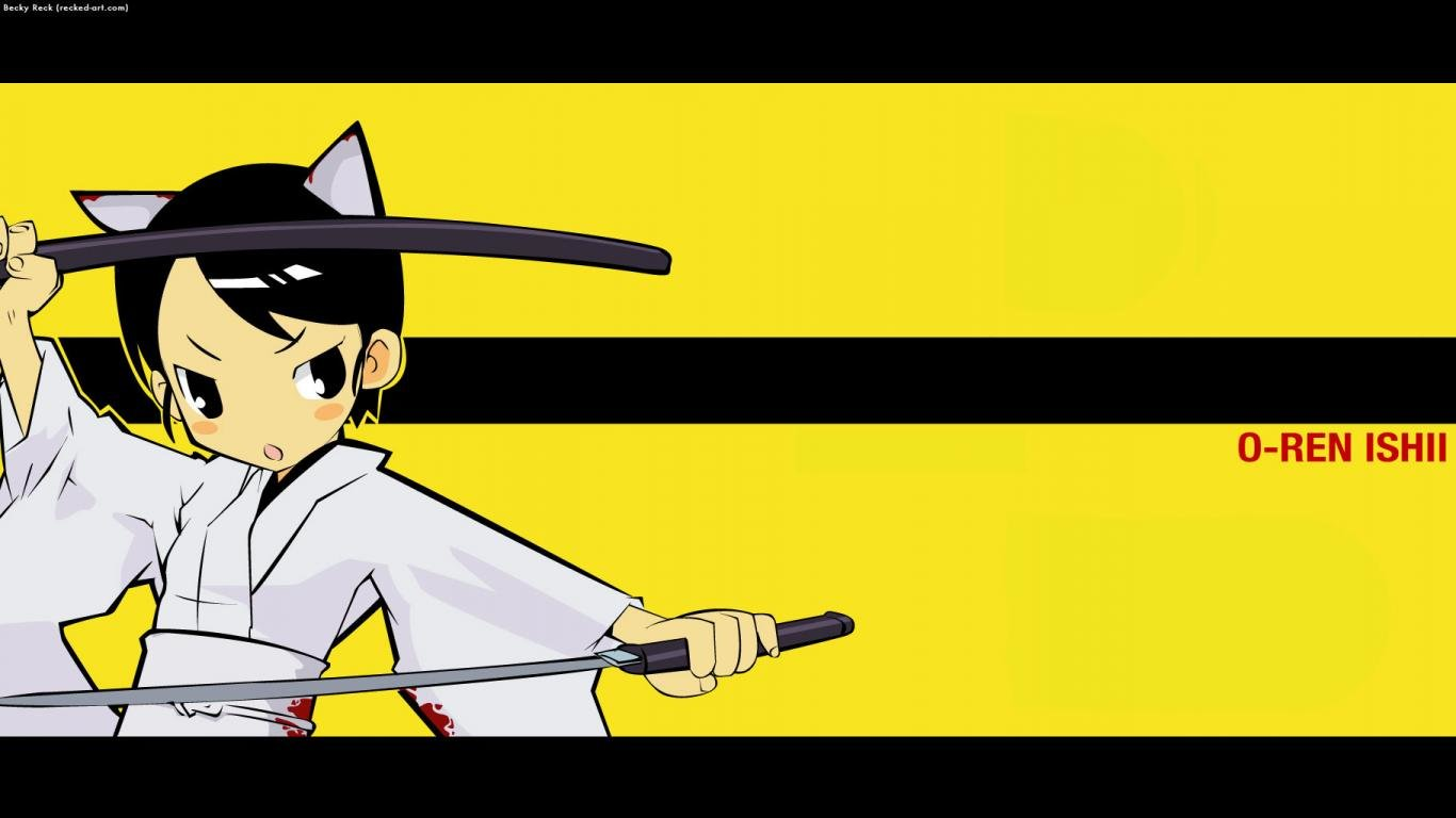 Download hd 1366x768 Kill Bill anime computer wallpaper ID:160084 for free