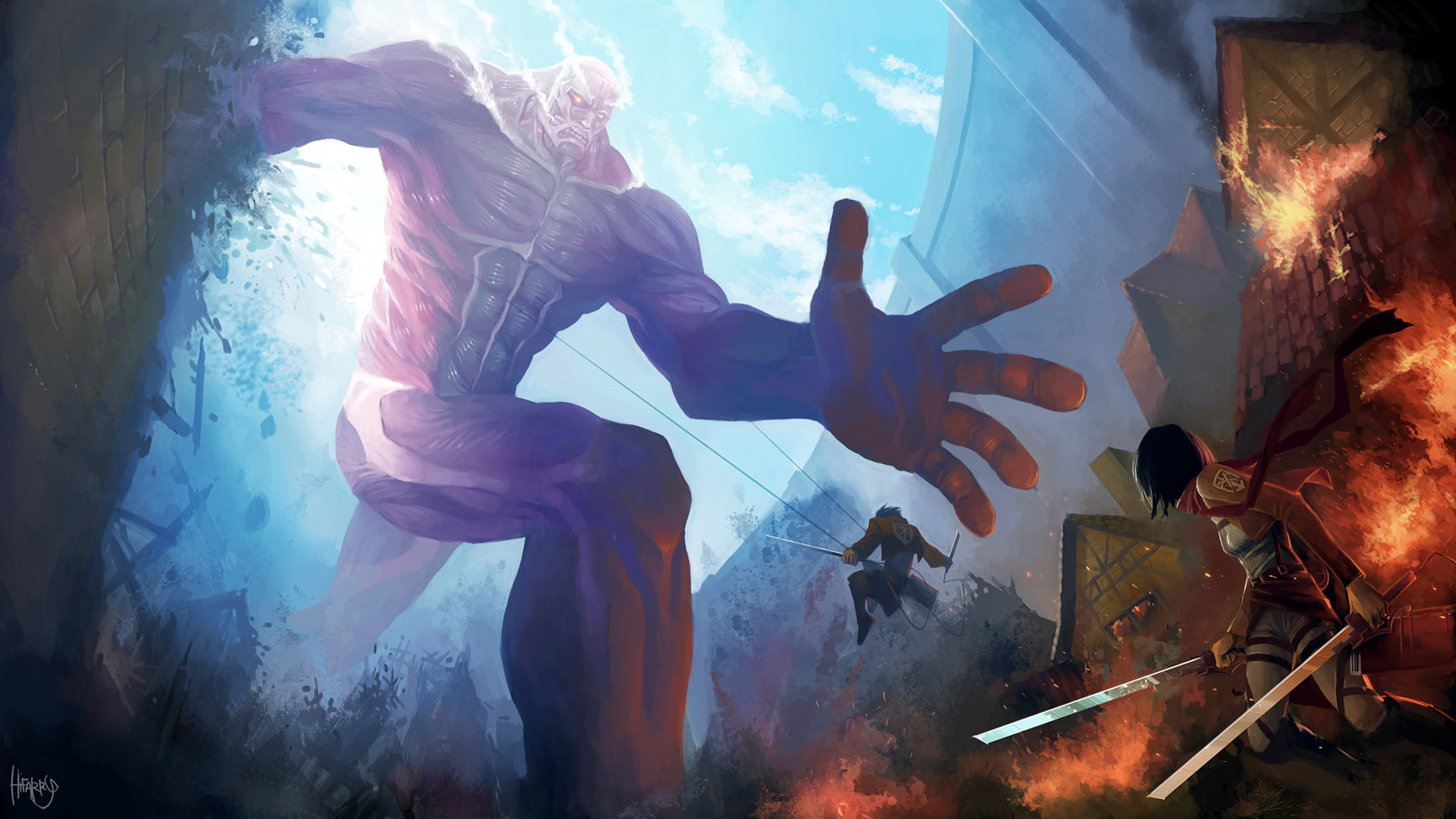 Awesome Attack On Titan Free Wallpaper Id 206073 For Hd 1080p Pc