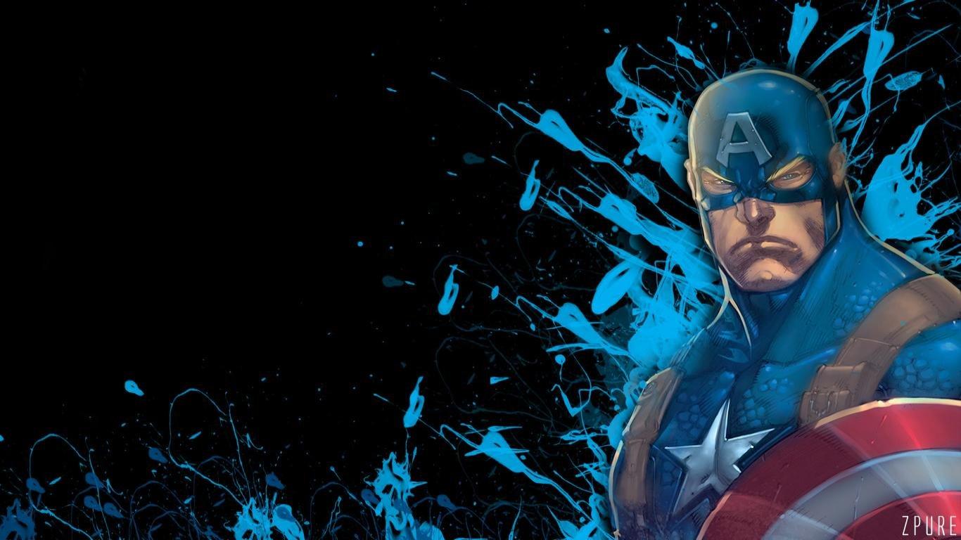 Captain America Marvel Comics Wallpapers 1366x768 Laptop Desktop Backgrounds