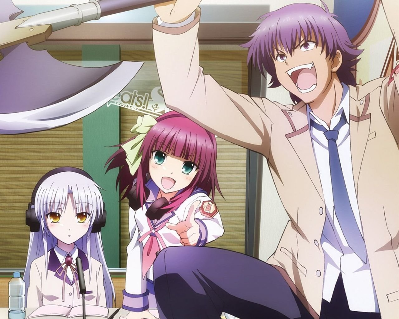 Download hd 1280x1024 Angel Beats! desktop wallpaper ID:235237 for free