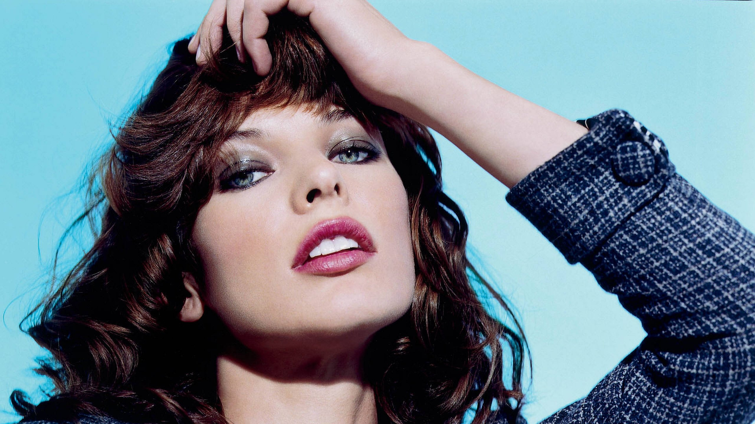 Download hd 2560x1440 Milla Jovovich desktop wallpaper ID:270668 for free