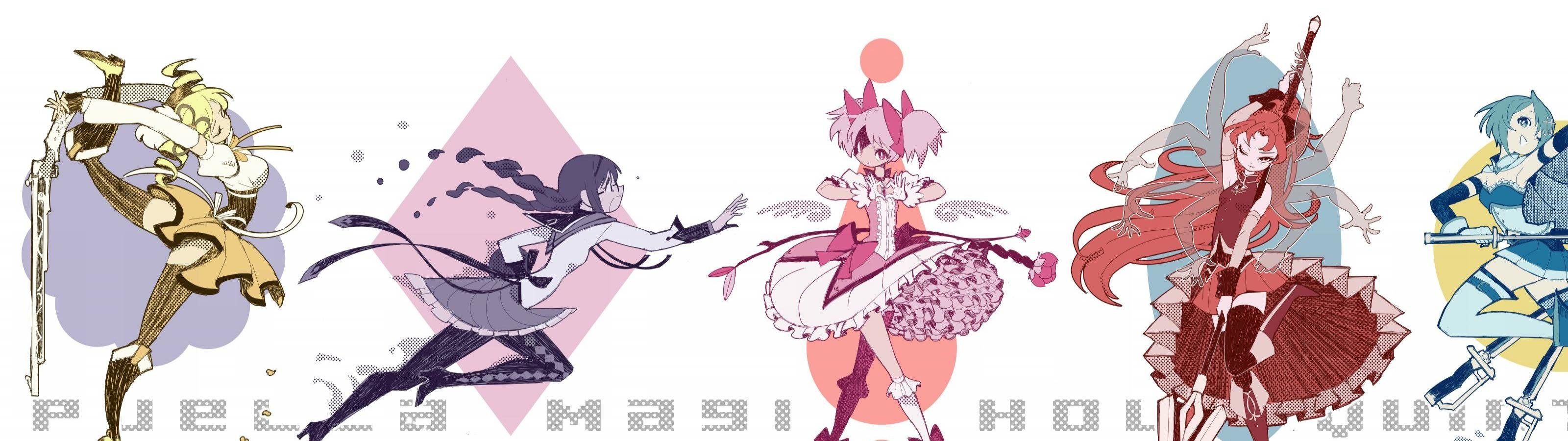 Free download Puella Magi Madoka Magica background ID:32379 dual monitor 3200x900 for computer