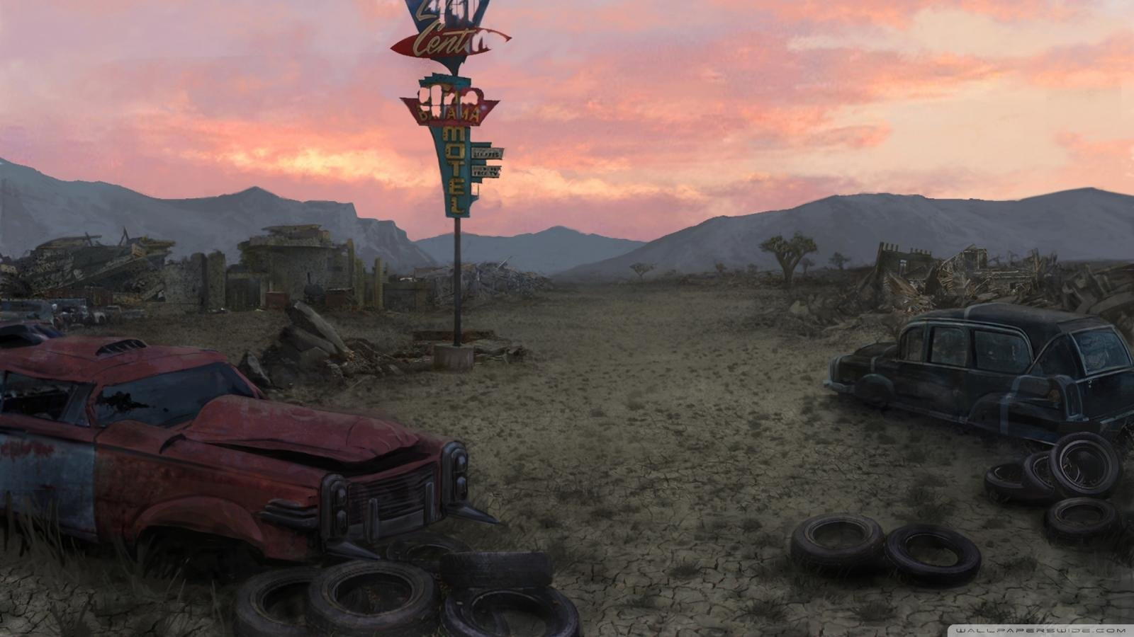 fallout: new vegas wallpapers 1600x900 desktop backgrounds