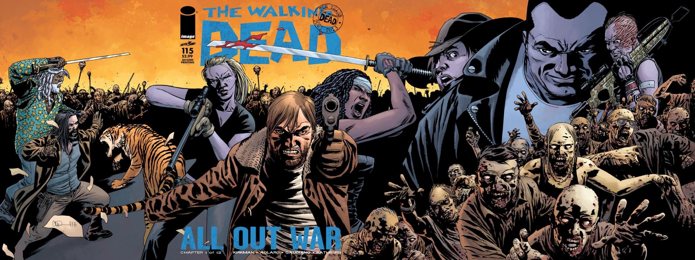 Free Walking Dead Comics high quality background ID:84355 for dual screen 2304x864 PC