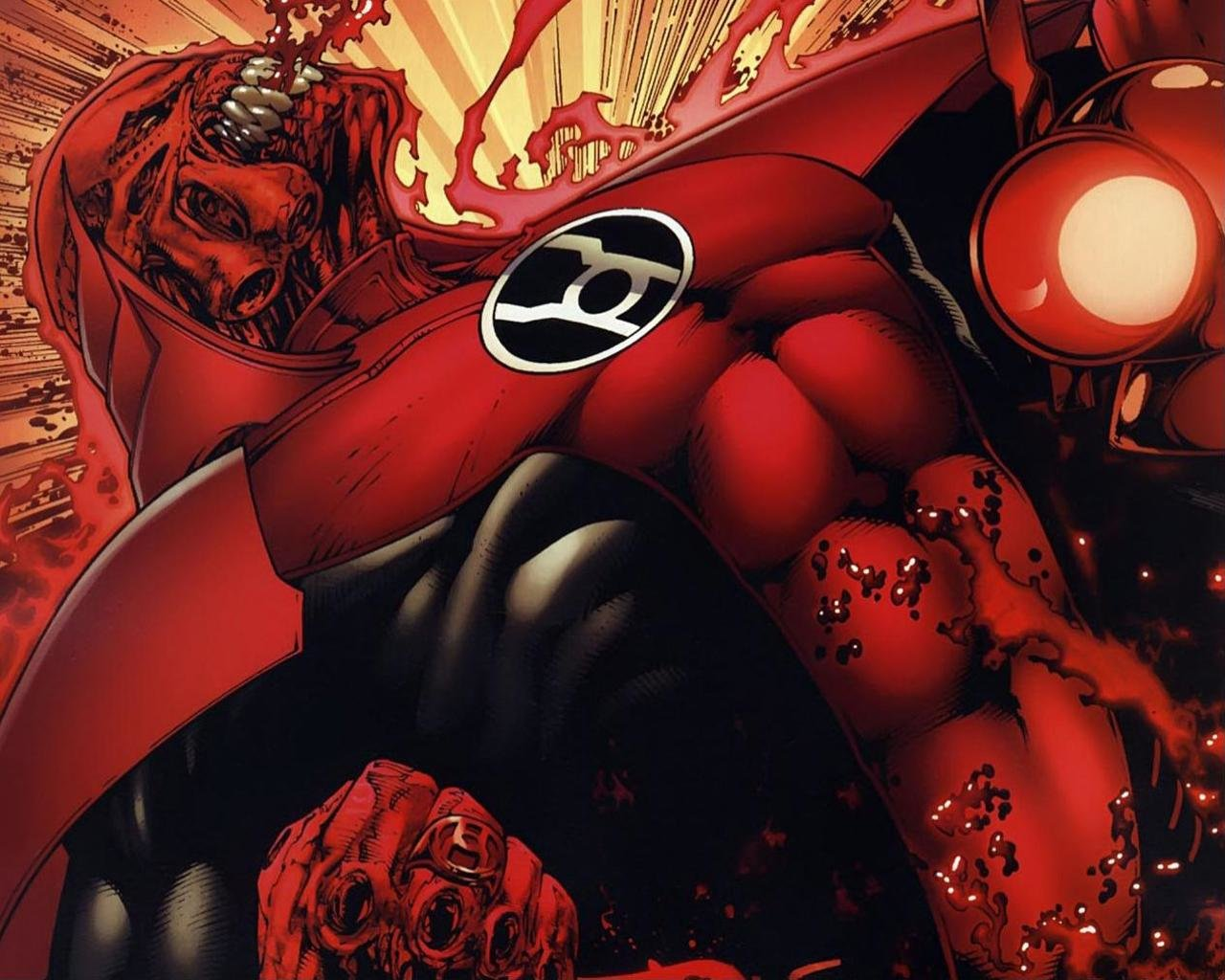High resolution Red Lantern Corps hd 1280x1024 wallpaper ID:25960 for computer