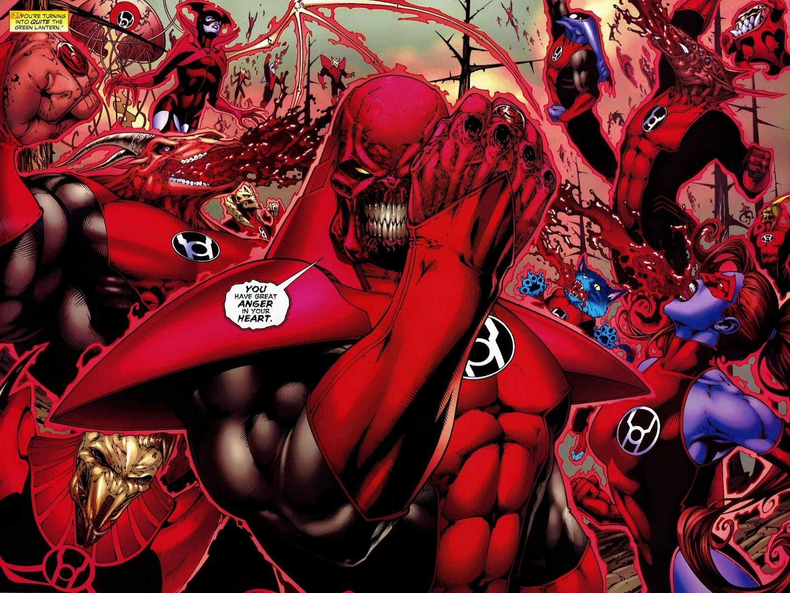 High Resolution Red Lantern Corps Hd 1600x1200 Wallpaper Id