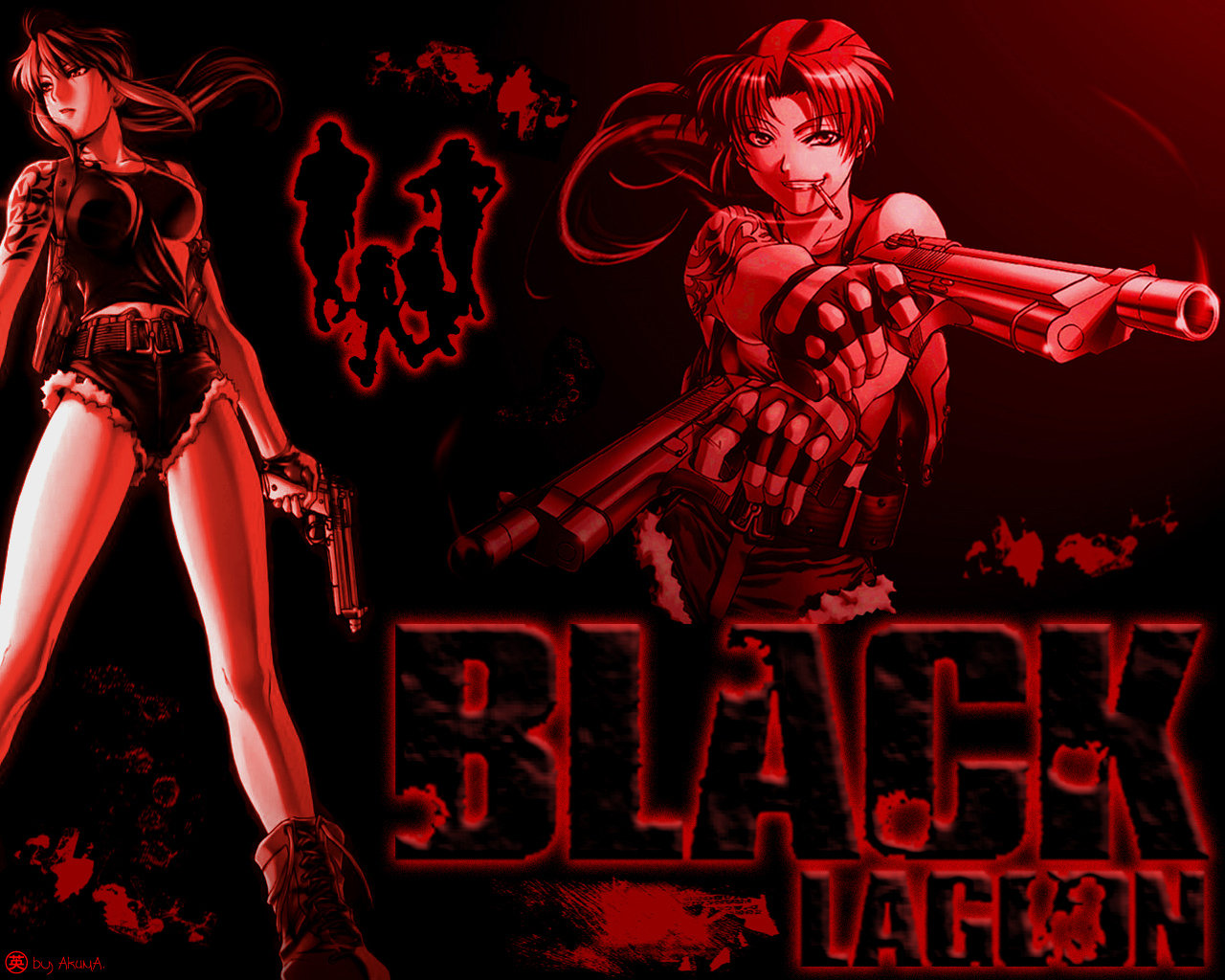revy (black lagoon) wallpapers 1280x1024 desktop backgrounds
