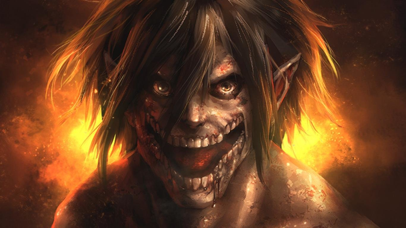 Awesome Eren Yeager free wallpaper ID:206129 for 1366x768 laptop PC