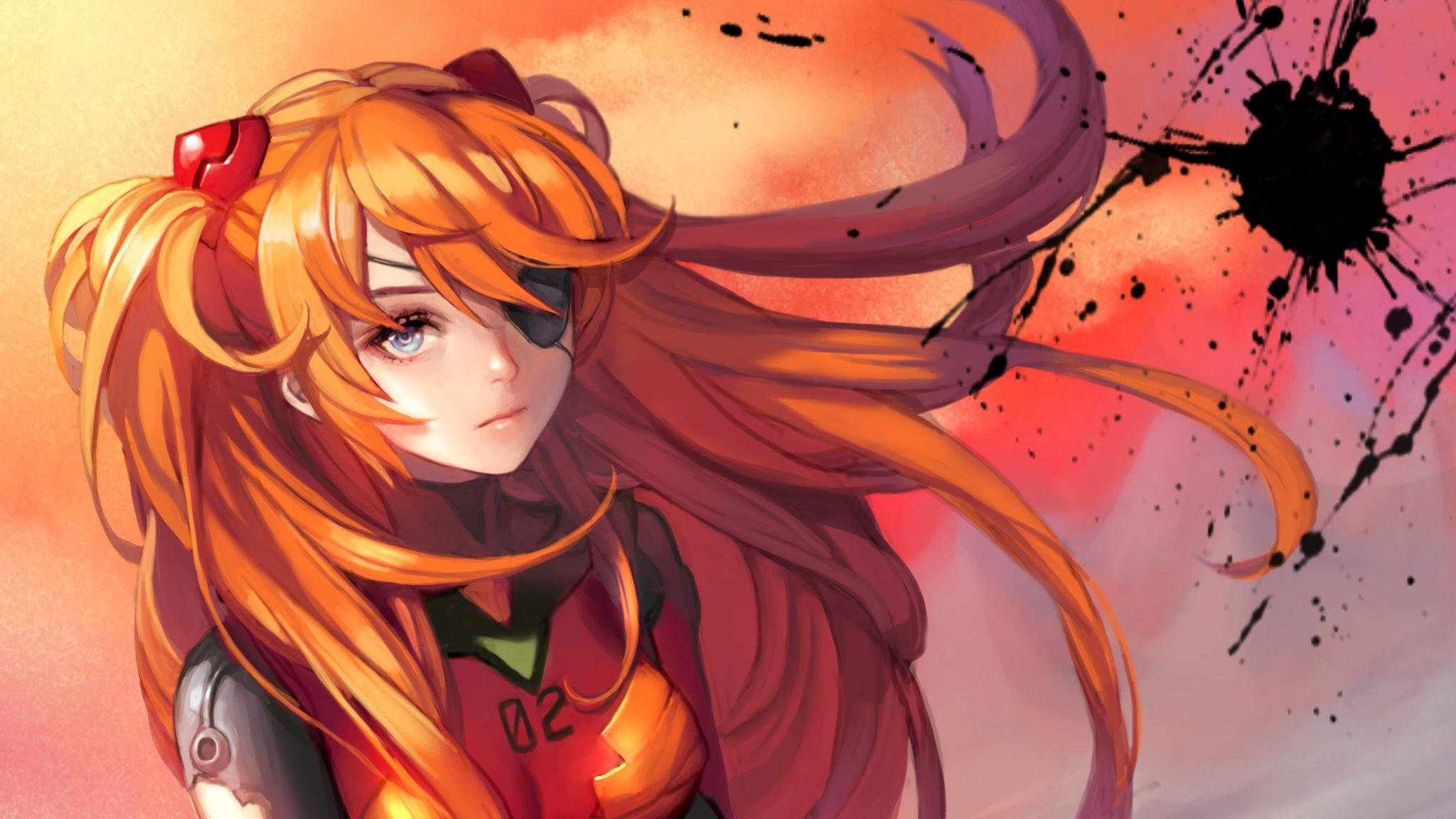 Download hd 2048x1152 Asuka Langley Sohryu computer background ID:215403 for free