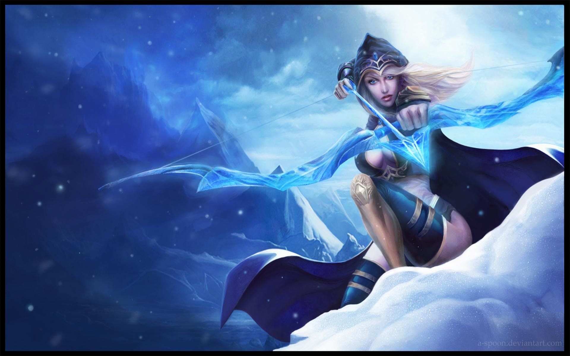 Download Hd 1920x1200 Ashe League Of Legends Pc Wallpaper Id