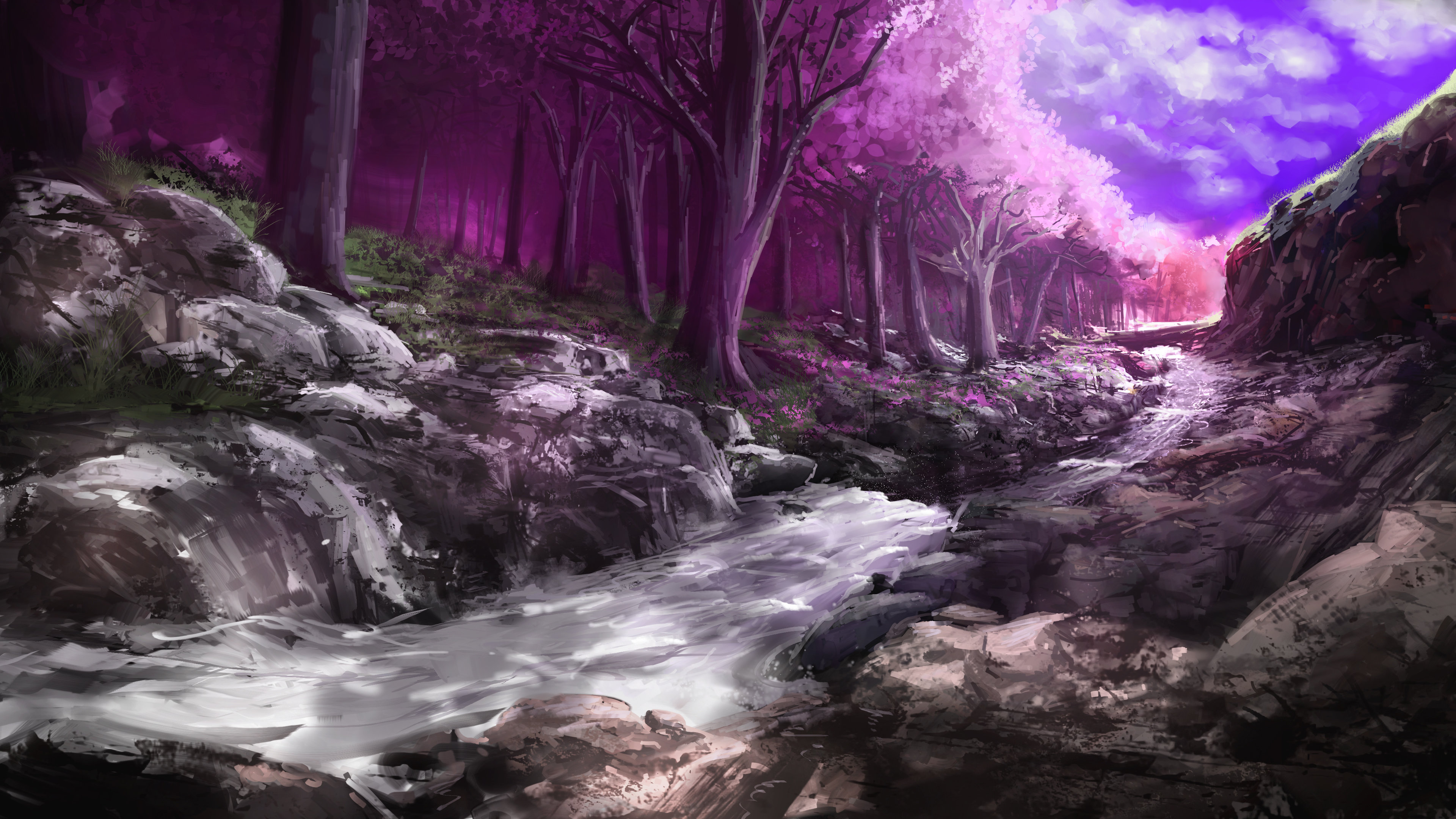 Fantasy forest wallpapers 3840x2160 ultra hd 4k desktop - Desktop wallpaper 4k ...