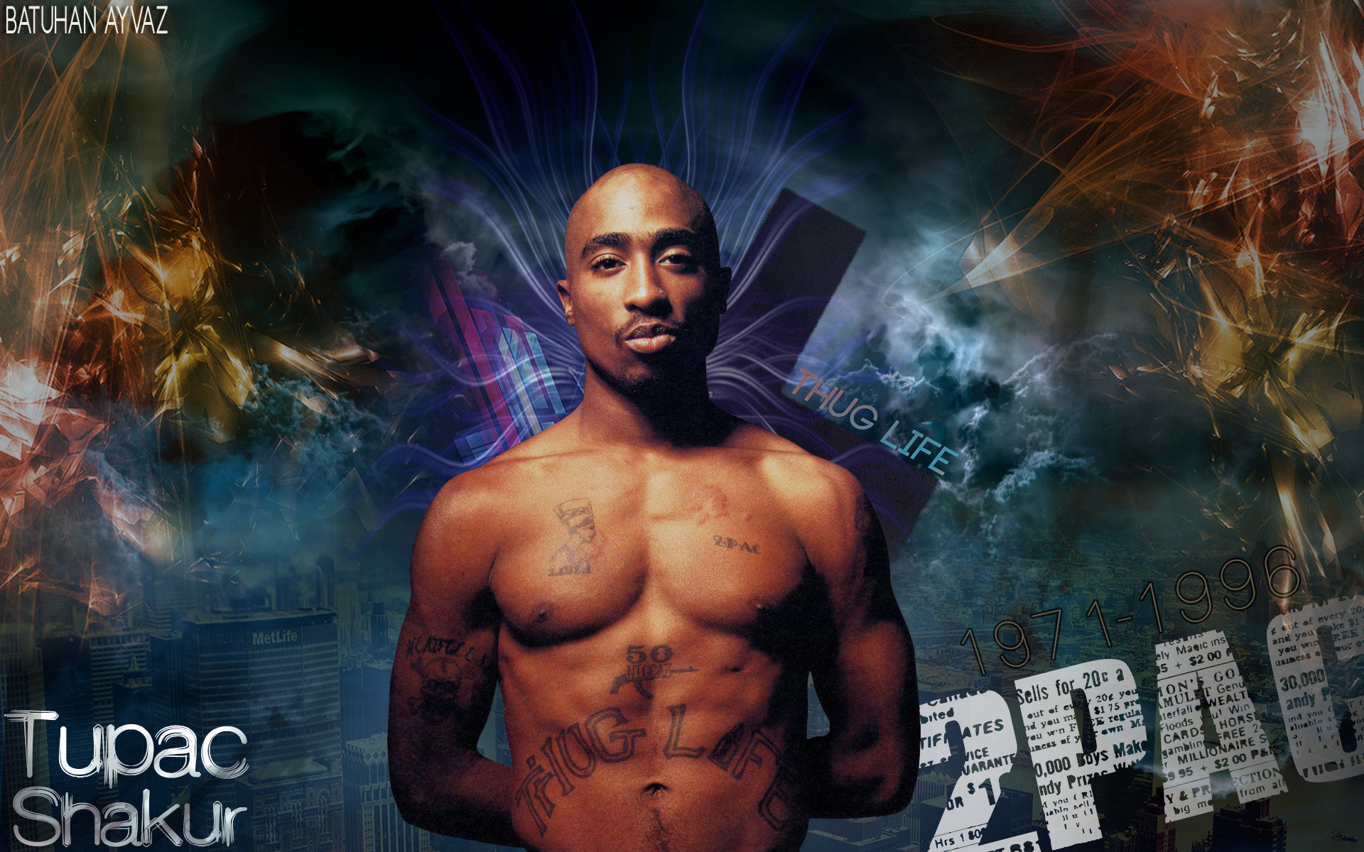 Free download 2pac (tupac) background ID:259133 hd 1920x1200 for PC
