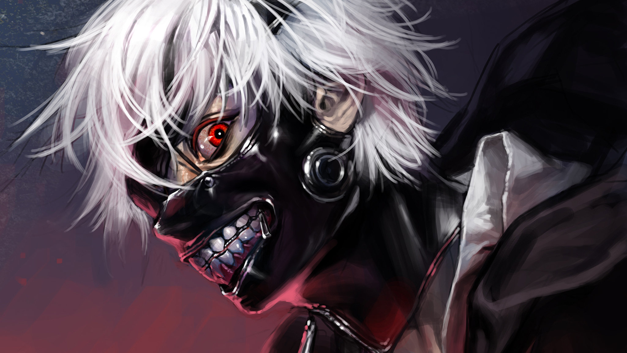 Download hd 2048x1152 Ken Kaneki computer wallpaper ID:150030 for free