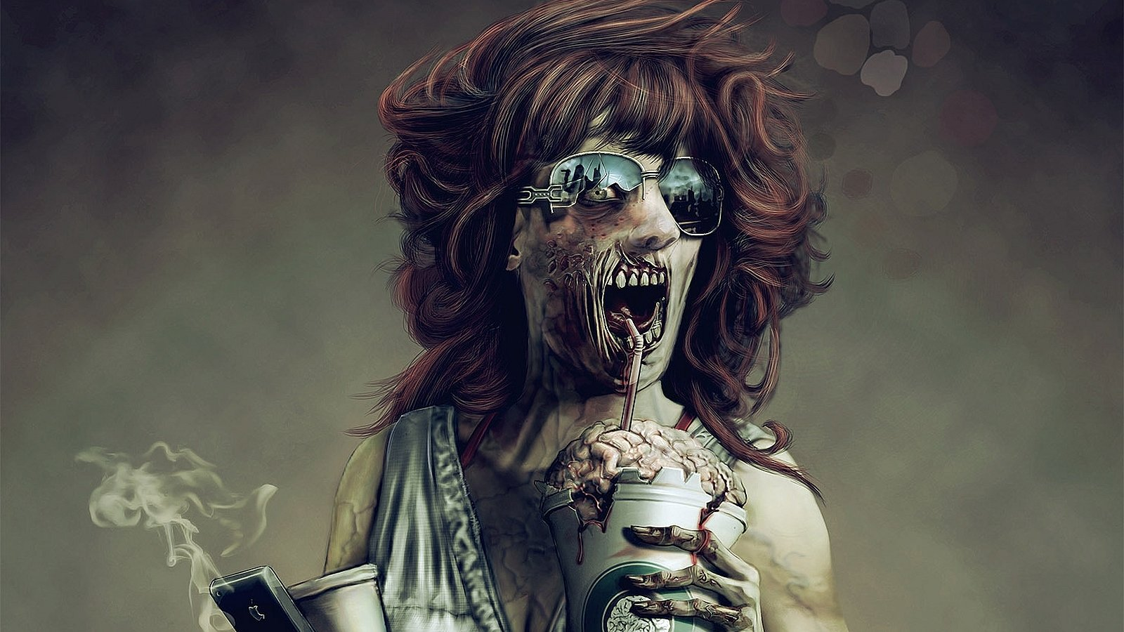 Download Hd 1600x900 Zombie Desktop Wallpaper ID:241348