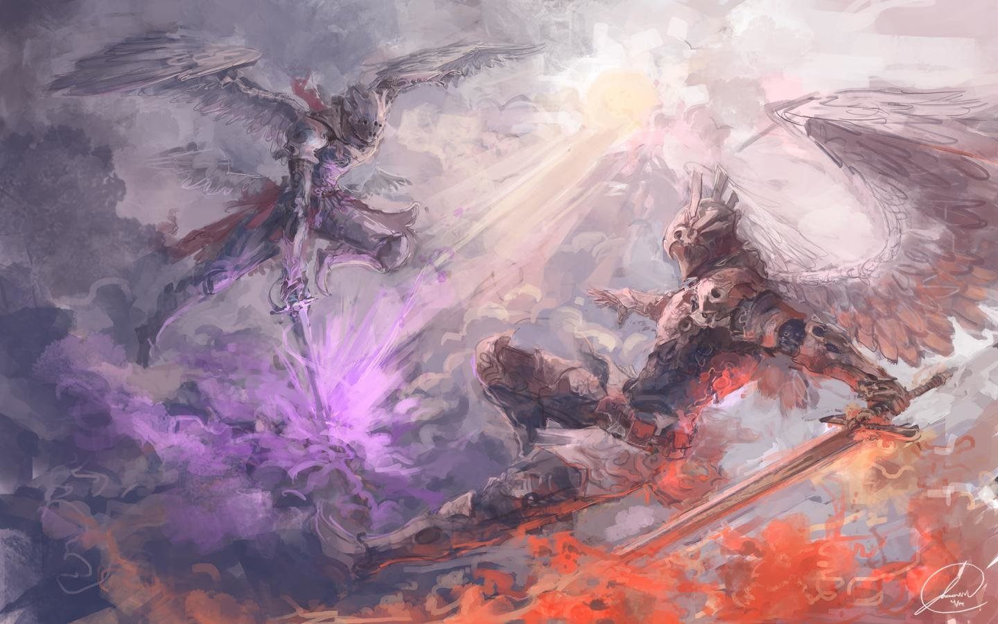 Awesome Angel Warrior free background ID:352204 for hd 1440x900 PC