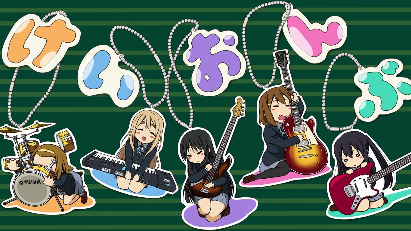 Free download K-ON! background ID:213032 hd 1366x768 for computer