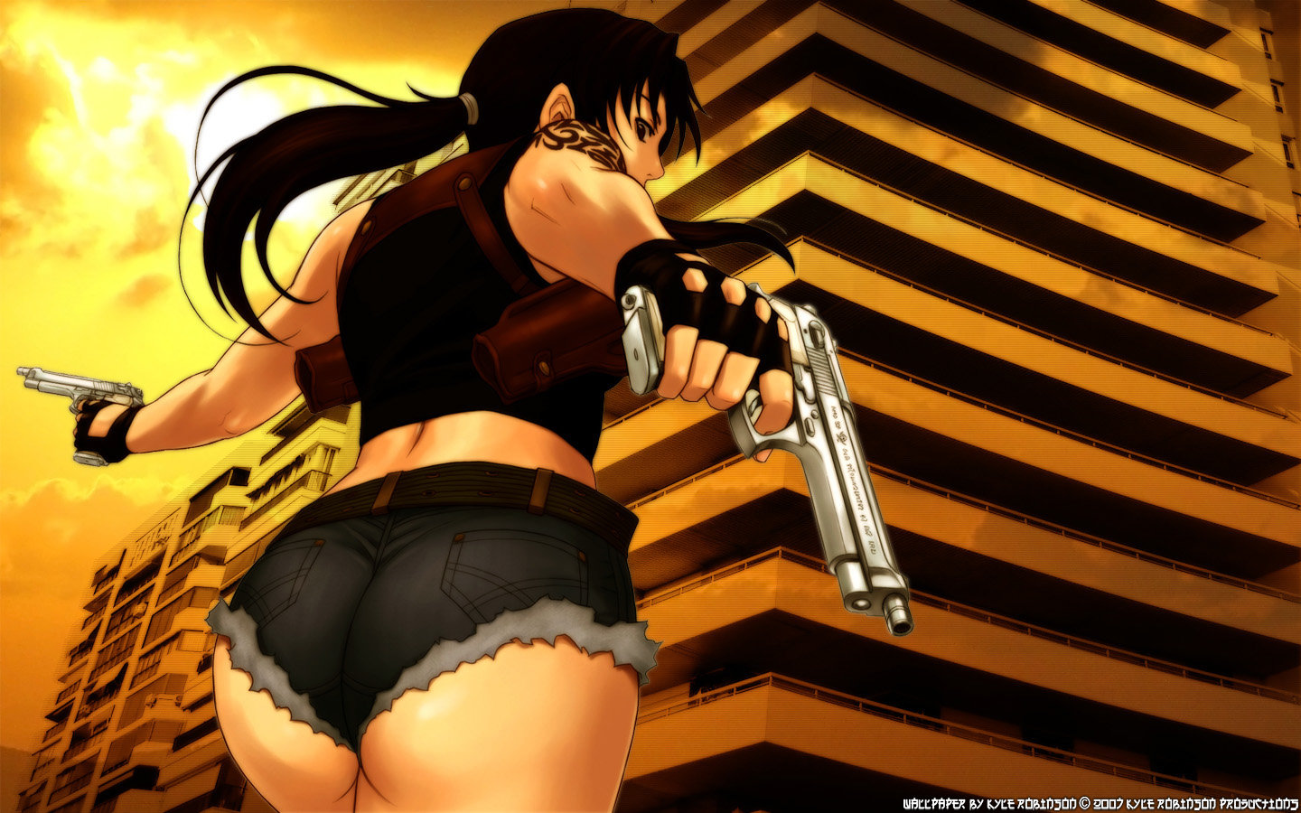 Download hd 1440x900 Black Lagoon PC background ID:113817 for free