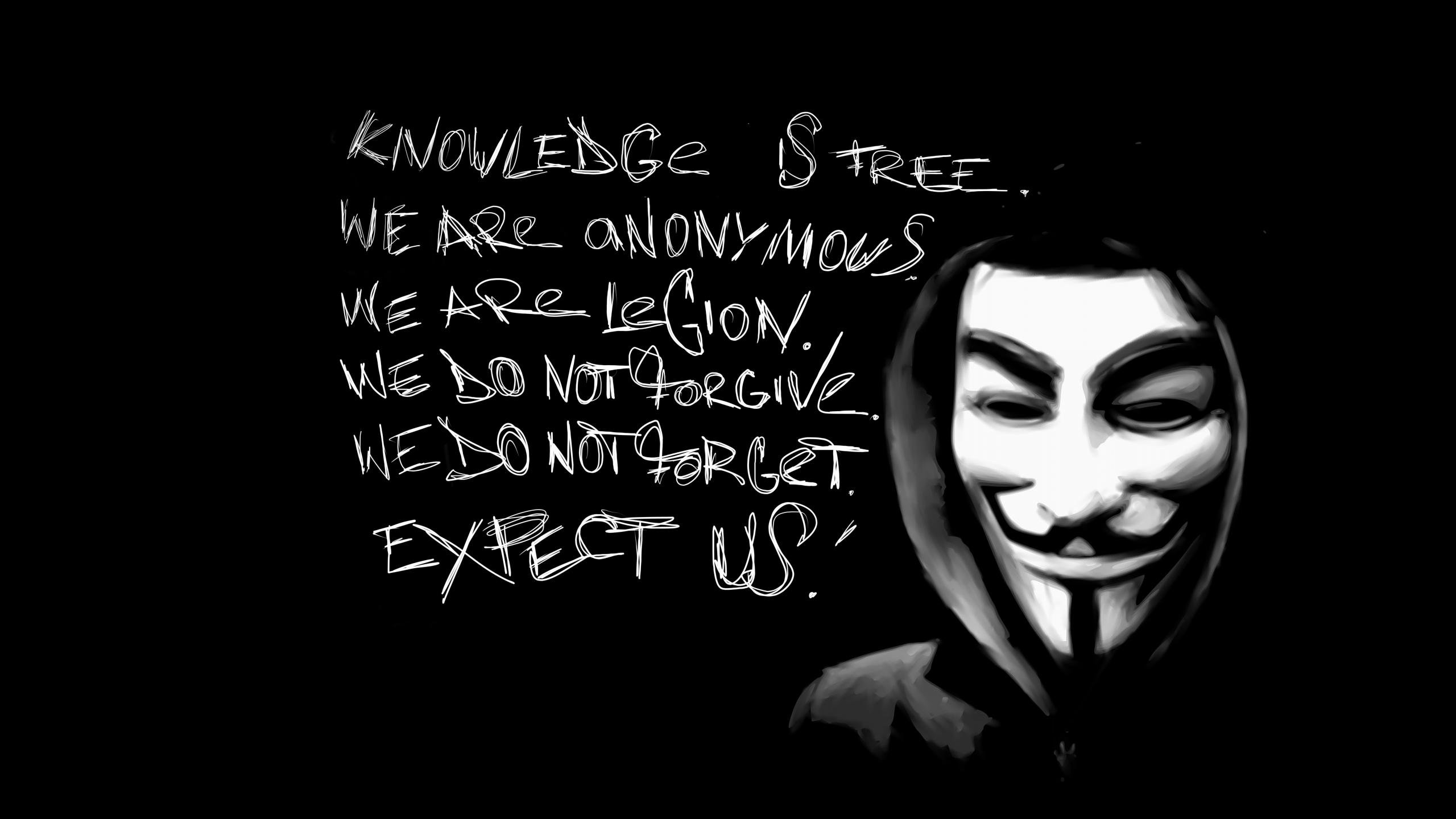 Free Download Anonymous Wallpaper ID162146 Hd 2560x1440 For Computer