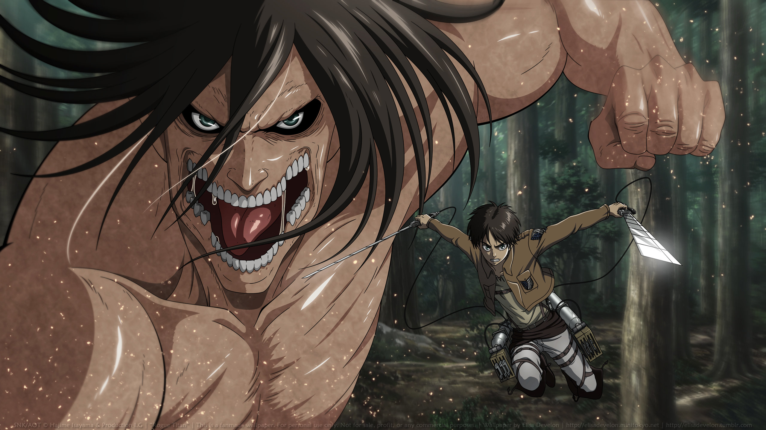 High resolution Eren Yeager hd 2560x1440 background ID:206069 for PC