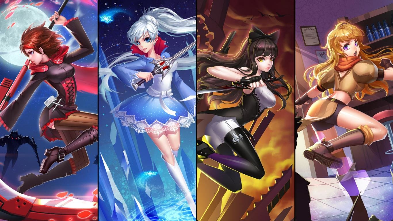 Awesome RWBY free wallpaper ID:437671 for hd 1366x768 PC