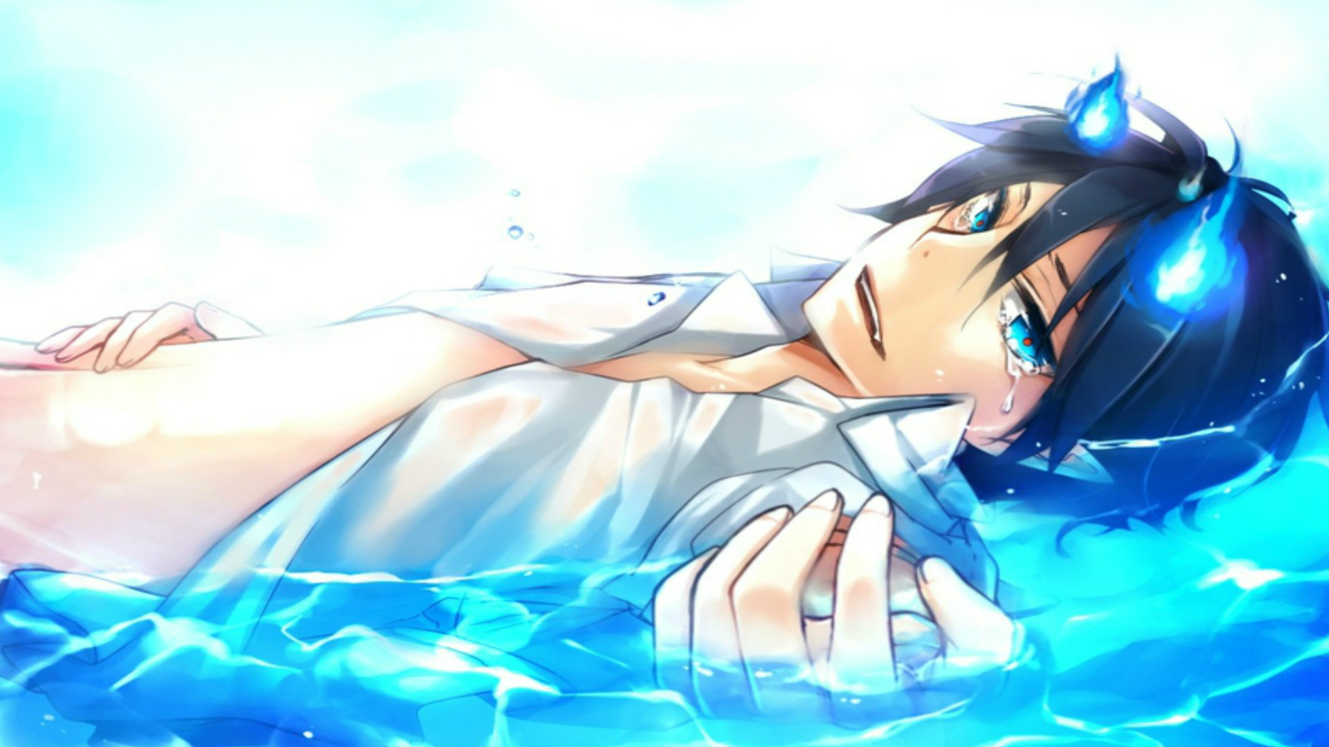 Best Blue Exorcist (Ao No) background ID:242139 for High Resolution full hd 1920x1080 PC