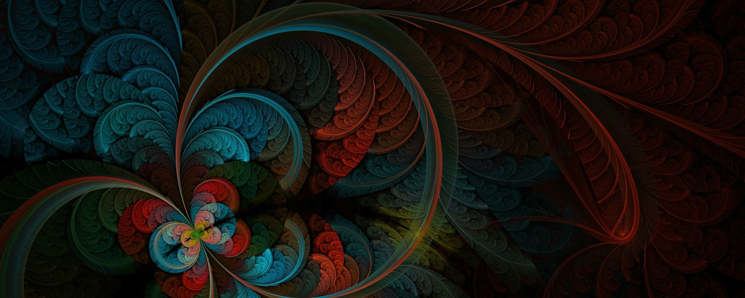 Awesome Fractal free wallpaper ID:93735 for dual screen 2560x1024 desktop