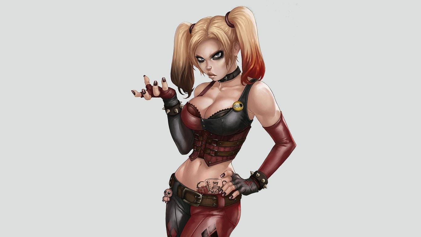 Awesome Harley Quinn free wallpaper ID:240744 for hd 1366x768 computer